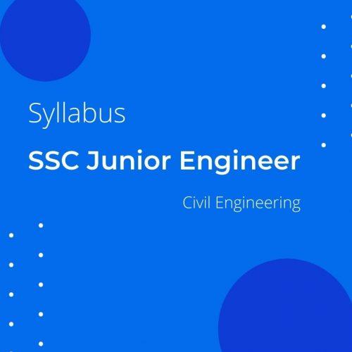 SYLLABUS OF SSC JUNIOR ENGINEER