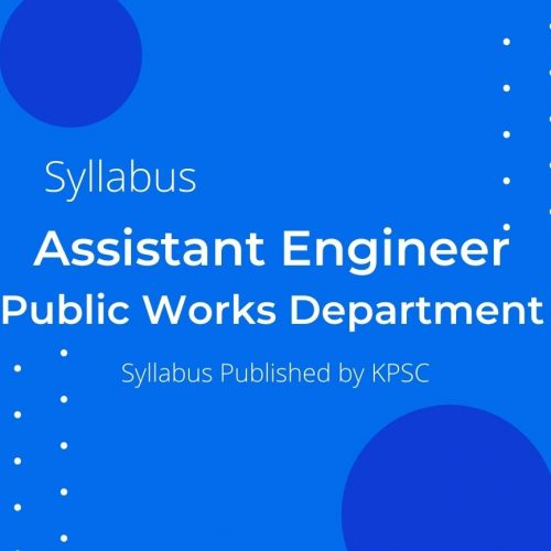 PWD ASSISTANT ENGINEER SYLLABUS