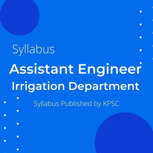 IRRIGATION ASSISTANT ENGINEER SYLLABUS