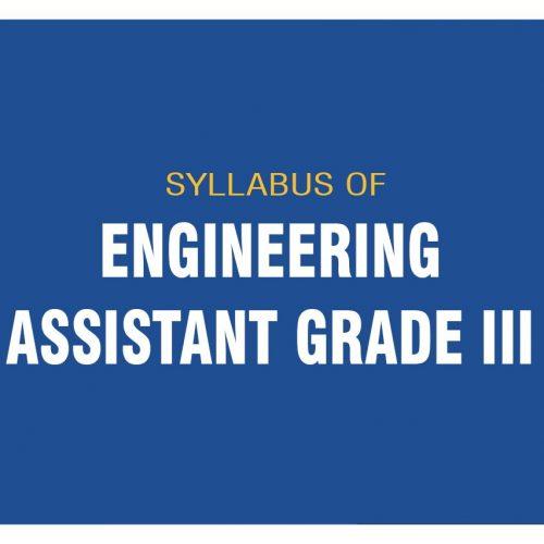 ENGINEERING ASSISTANT GRADE III SYLLABUS