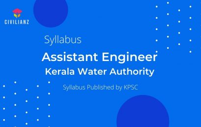 Kerala Water Authority Assistant Engineer Syllabus