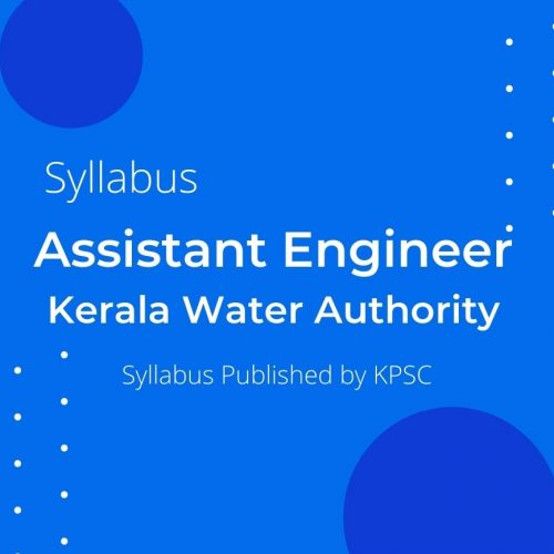 KWA Assistant Engineer Syllabus