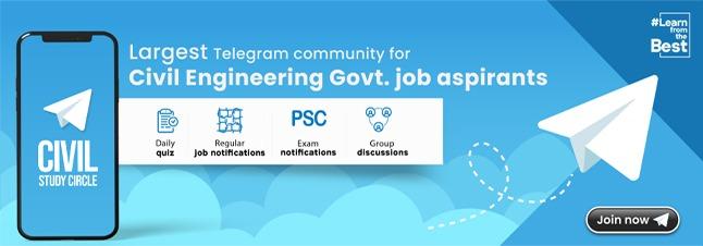Largest Telegram community for Civil Engineering Govt. job aspirants