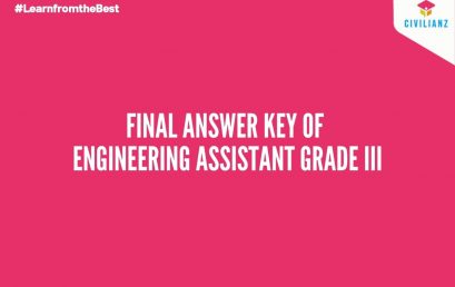 FINAL ANSWER KEY– ENGINEERING ASSISTANT GRADE III