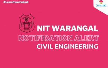 NIT WARANGAL JOB NOTIFICATION 2021