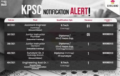 Kerala PSC Civil Engineering Notification