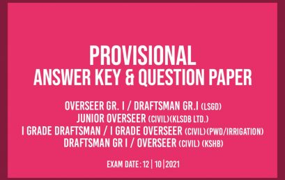 OVERSEER GR. 1 PROVISIONAL ANSWER KEY
